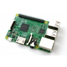 Raspberry Pi 3 Model B 1.2 GHz 64-bit Quad core ARM CPU with WiFi - Bluetooth